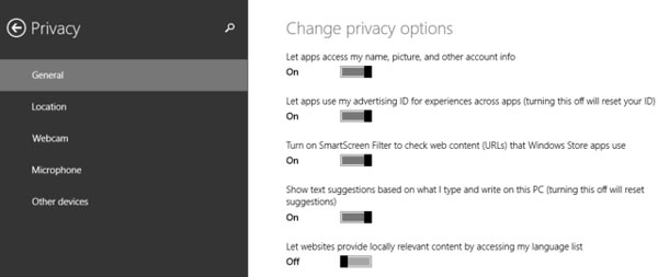 Privacy Controls for Data Used by Apps