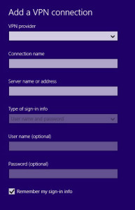 Add VPN Connections